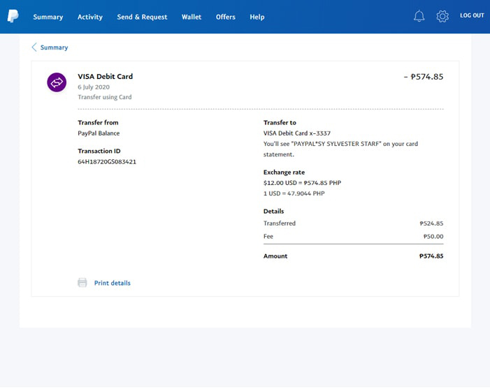 Transfer From Paypal To Paymaya - Summary